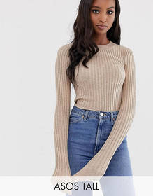 ASOS DESIGN Tall crew neck sweater in skinny rib