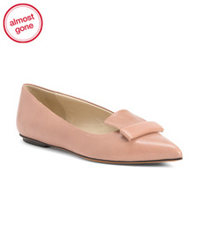 SPINNAKER Made In Italy Pointy Toe Leather Flats