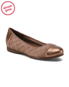 EASY SPIRIT Suede Comfort Quilted Flats