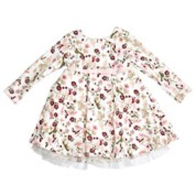 SWEETHEART ROSE Toddler Girls Floral Quilted Knit