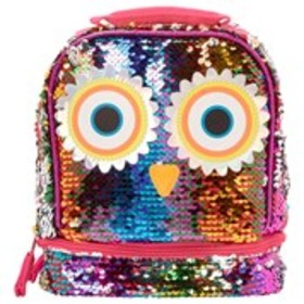 FAST FORWARD Girls Sequin Owl Drop Bottom Lunch Ba