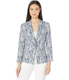 Vince Camuto Paisley Jacquard One-Button Blazer