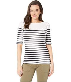 LAUREN Ralph Lauren Puffed Elbow-Sleeve Stretch Co