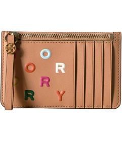 Tory Burch Letters Printed Slim Card Case