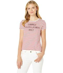 LAUREN Ralph Lauren Logo Striped Tee