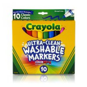 Crayola Ultra-Clean Washable Broad Line Markers, 1