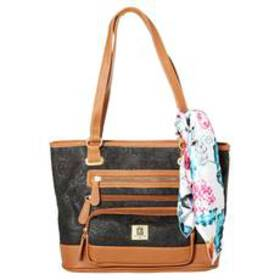 Stone Mountain Plug-In Embossed Crazy Paisley Tote