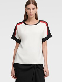 Donna Karan Colorblock Top