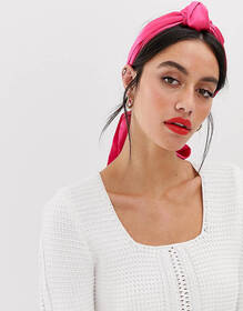 ASOS DESIGN knot front headscarf