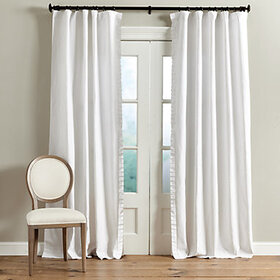 Vivienne Pleated Trim Linen Panel - Set of 2