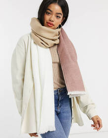ASOS DESIGN supersoft long woven scarf in color bl