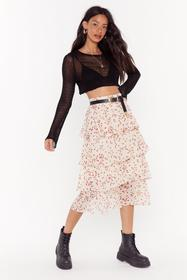 Nasty Gal Womens Cream Calling All Hearts Tiered M
