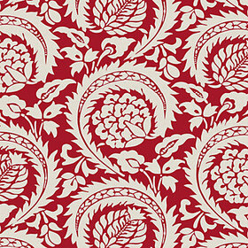 Wintour Red Fabric by the Yard