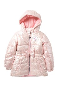 Betsey Johnson Iridescent Hooded Puffer Jacket (To