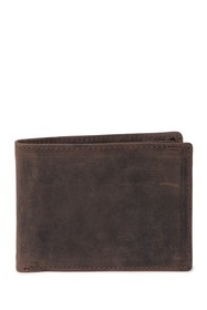English Laundry Crazy Horse Leather Bi-Fold Wallet