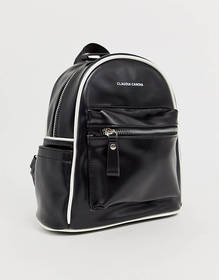 Claudia Canova Mouvement Black Backpack with White