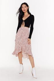 Nasty Gal Womens Pink Grow Old with Me Floral Midi