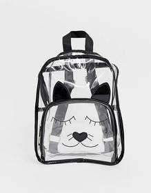 Yoki Cat Face Clear Backpack