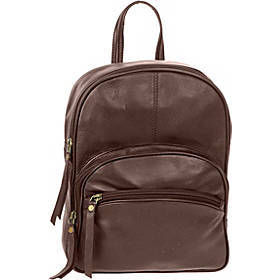 R & R Collections Triple Zip-Around Small Backpack