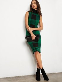 Plaid Sweater Sheath Dress - 7th Avenue - New York