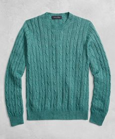 Brooks Brothers Golden Fleece® 3-D Knit Cable Crew
