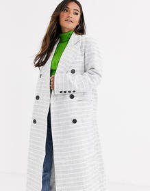 ASOS DESIGN double breasted textured longline coat
