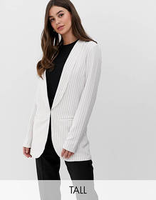 Y.A.S Tall Liva pinstripe tailored two-piece blaze
