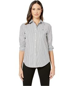 LAUREN Ralph Lauren Embroidered Striped Button Dow