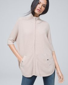Zip-Front Cover-Up Sweater