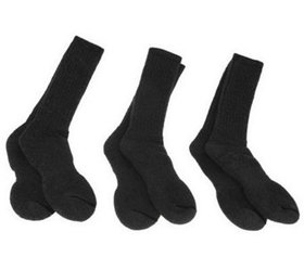 Catawba Set of 3 Merino Wool Blend Boot Socks - A7