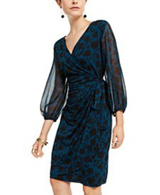 INC Floral Wrap Dress, Created for Macy's