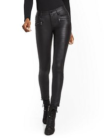 Mid-Rise Super-Skinny Jeans - Black Coated - New Y
