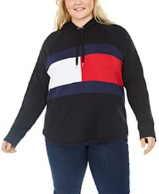 Sport Plus Size Colorblocked Logo Hoodie, Created
