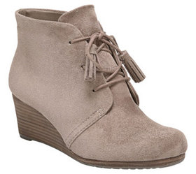 Dr. Scholl's Memory Foam Lace-Up Wedge Booties- Da