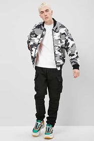 Forever21 Quilted Denim Camo Jacket