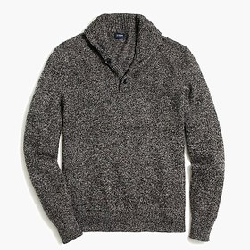 J. Crew Factory Shawl collar sweater in supersoft