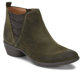 Comfortiva Criss Cross Leather Booties - Questa -