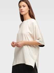 Donna Karan Short Sleeve Tunic
