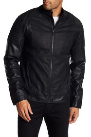 XRAY Quilted Faux Leather Jacket