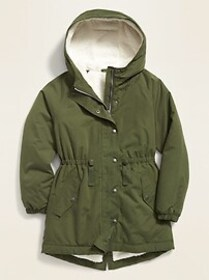 Hooded Sherpa-Lined Parka for Girls