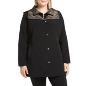 GALLERY Plus Size Two-Tone Anorak Jacket with Hood