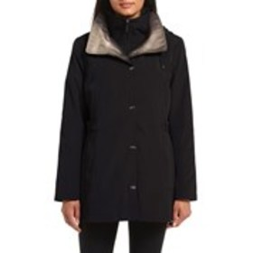 GALLERY Two-Tone Double Collar Anorak with Hood