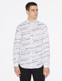 Armani STRETCH-COTTON PATTERNED SHIRT