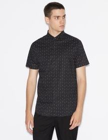 Armani SLIM-FIT SHIRT WITH SHORT SLEEVES