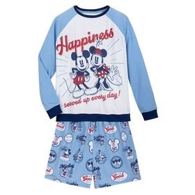 Disney Mickey and Minnie Mouse Pajama Set for Wome
