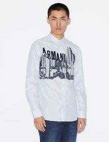 Armani REGULAR-FIT SHIRT WITH LONG SLEEVES
