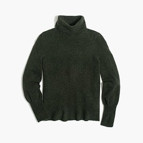 J. Crew Factory Puff-sleeve sweater in extra-soft