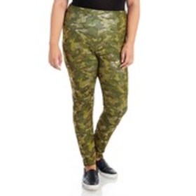 CHANCES R Plus Size Foil Camo Active Leggings