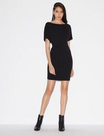 Armani SHORT-SLEEVED DRESS WITH ZIPS