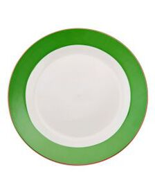 Pfaltzgraff Banded Green with Pink Dinner Plate